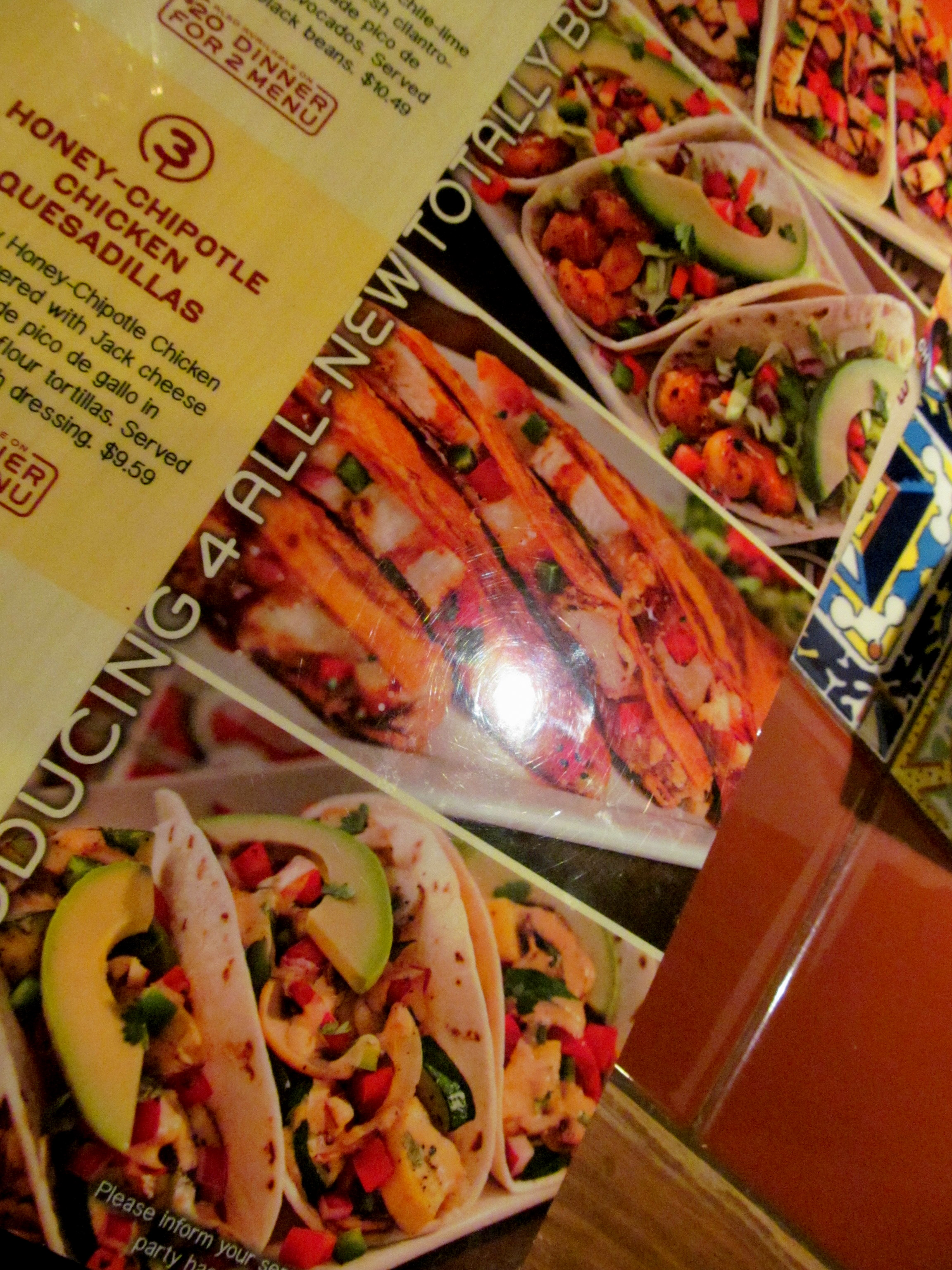 Check out that avocado – the actual meals did indeed contain those ...