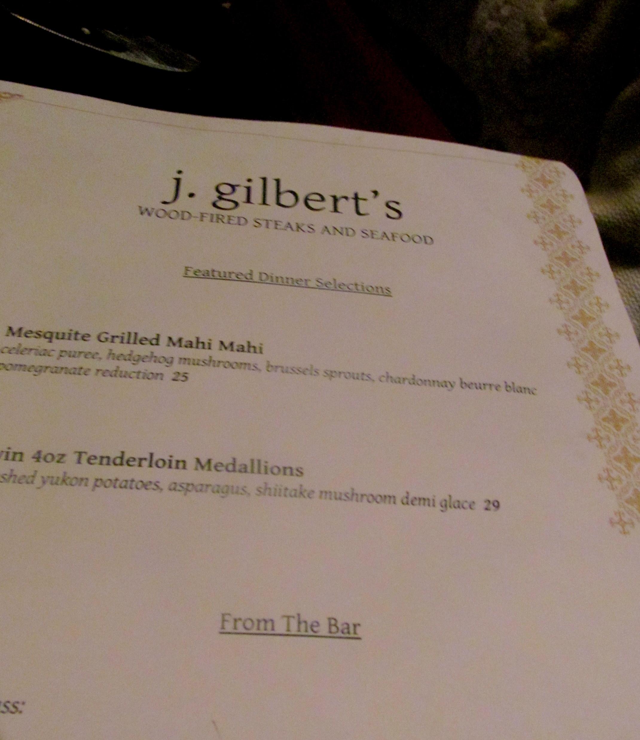 J gilbert's mclean coupons