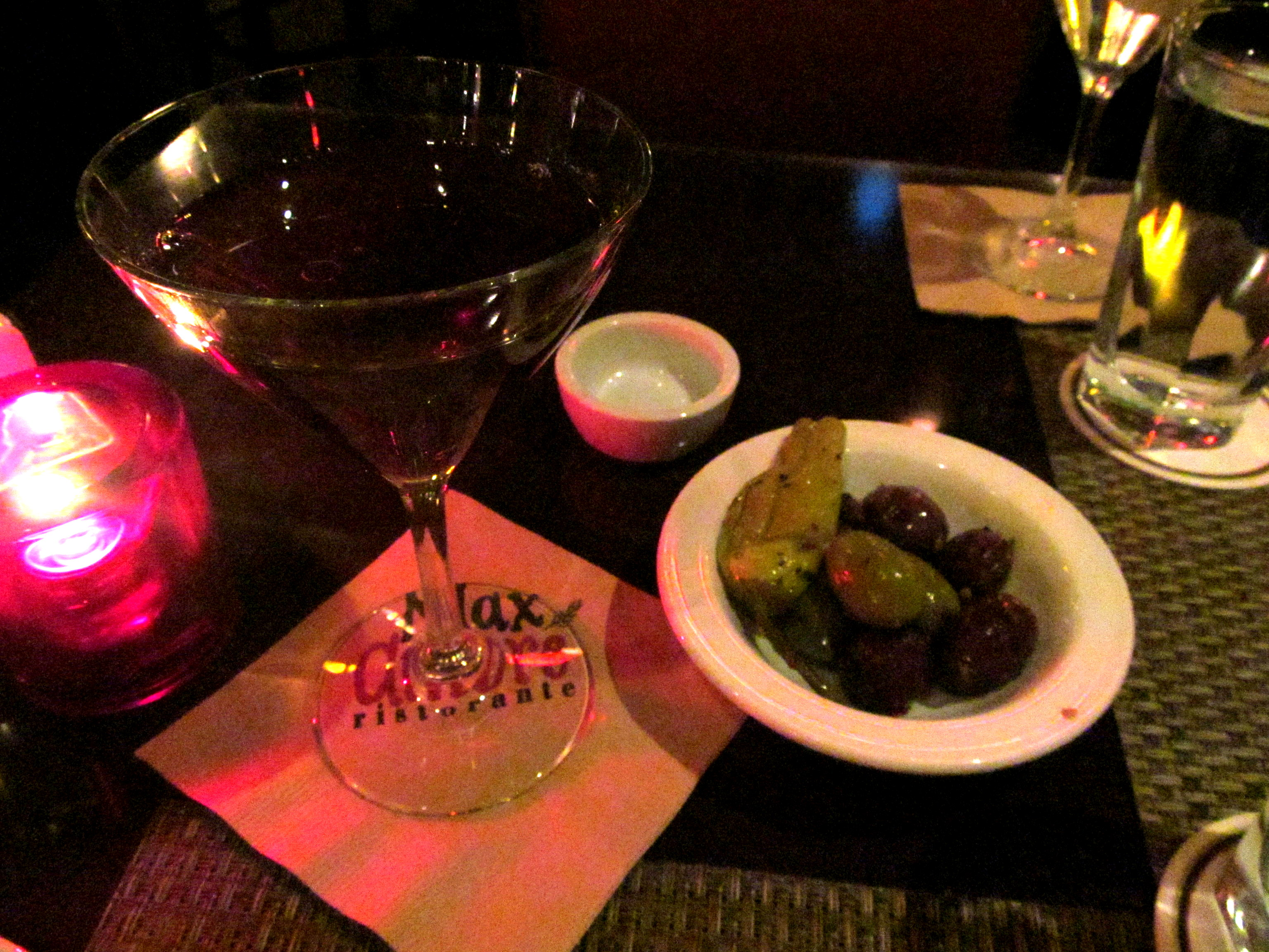 Big Boy Manhattan and olives.